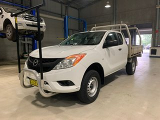 2013 Mazda BT-50 XT - Hi-Rider White Manual Cab Chassis - Extended Cab.