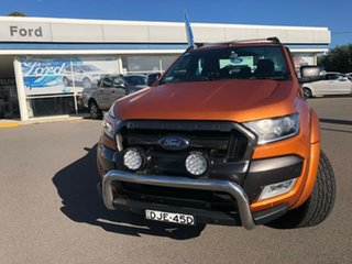 2016 Ford Ranger PX MkII Wildtrak Orange 6 Speed Sports Automatic Dual Cab Utility.