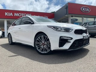 2019 Kia Cerato Hatch GT Clear White Sports Automatic Dual Clutch Hatchback.