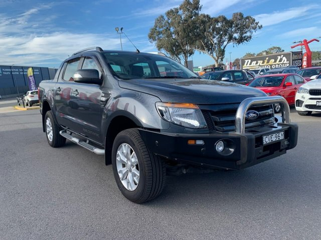 Used Ford Ranger PX Wildtrak Double Cab, 2014 Ford Ranger PX Wildtrak Grey 6 Speed Sports Automatic Dual Cab Utility