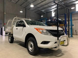2013 Mazda BT-50 XT - Hi-Rider White Manual Cab Chassis - Extended Cab