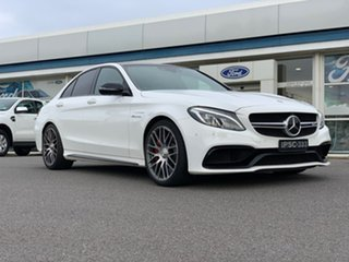 2016 Mercedes-Benz C-Class W205 807MY C63 AMG - S White 7 Speed Sports Automatic Sedan