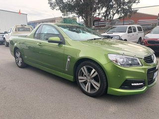 2015 Holden Ute VF MY15 SV6 Green 6 Speed Manual Utility - Extended Cab.