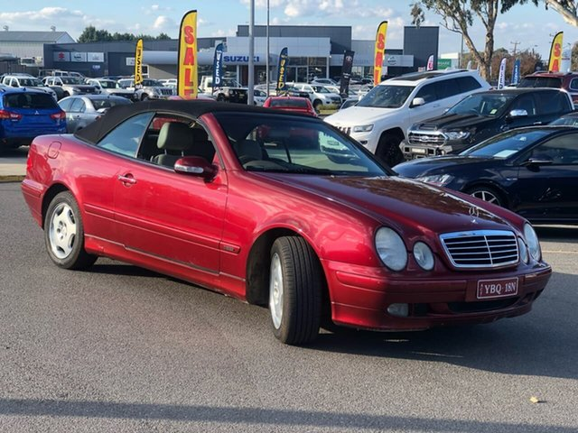 Used Mercedes-Benz CLK-Class A208 Elegance Kompressor, 2001 Mercedes-Benz CLK-Class A208 CLK230 Kompressor - Elegance Red 5 Speed Automatic Cabriolet