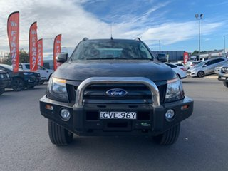 2014 Ford Ranger PX Wildtrak Grey 6 Speed Sports Automatic Dual Cab Utility.