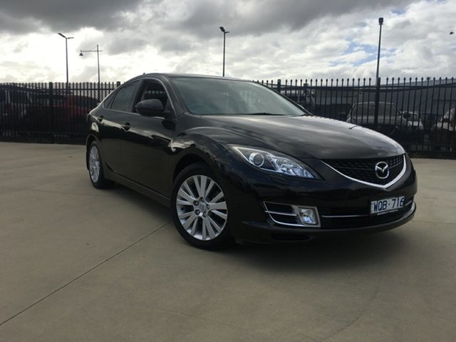 Used Mazda 6 GH1051 Luxury, 2008 Mazda 6 GH1051 Luxury Brilliant Black 5 Speed Sports Automatic Hatchback