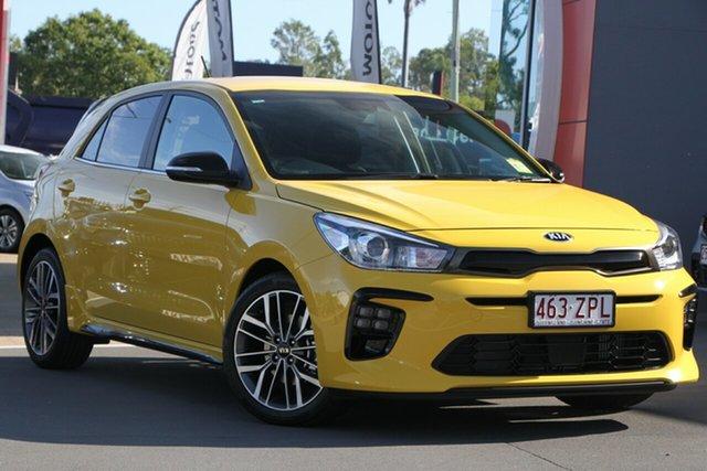Demo Kia Rio YB MY20 GT-Line DCT, 2020 Kia Rio YB MY20 GT-Line DCT Mighty Yellow 7 Speed Sports Automatic Dual Clutch Hatchback