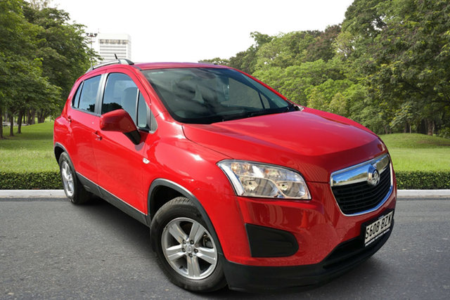 Used Holden Trax TJ MY14 LS, 2014 Holden Trax TJ MY14 LS Red/Black 5 Speed Manual Wagon