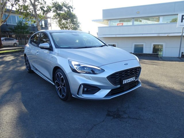 Used Ford Focus SA 2019.75MY ST-Line, 2019 Ford Focus SA 2019.75MY ST-Line Moondust Silver 8 Speed Automatic Hatchback