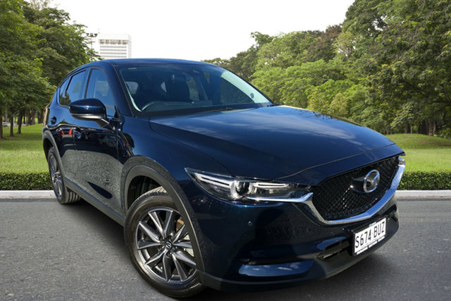 Used Mazda CX-5 KE1032 Grand Touring SKYACTIV-Drive i-ACTIV AWD, 2017 Mazda CX-5 KE1032 Grand Touring SKYACTIV-Drive i-ACTIV AWD Blue 6 Speed Sports Automatic Wagon