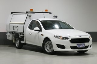 2014 Ford Falcon FG X (LPi) White 6 Speed Automatic Cab Chassis.