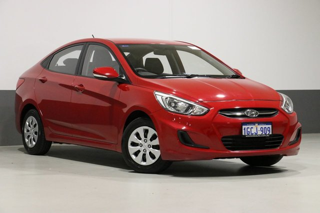 Used Hyundai Accent RB3 MY16 Active, 2016 Hyundai Accent RB3 MY16 Active Red 6 Speed CVT Auto Sequential Sedan