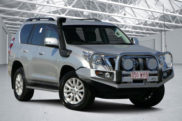 Used Toyota Landcruiser Prado GDJ150R MY16 VX (4x4), 2016 Toyota Landcruiser Prado GDJ150R MY16 VX (4x4) Silver Pearl 6 Speed Automatic Wagon