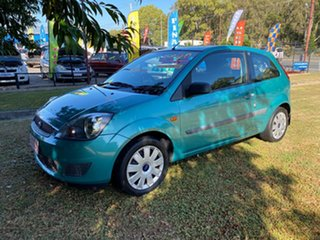 2007 Ford Fiesta WQ LX Green 4 Speed Automatic Hatchback.