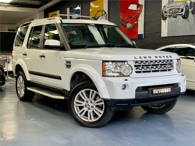 Used Land Rover Discovery 4 Series 4 SDV6 SE, 2012 Land Rover Discovery 4 Series 4 SDV6 SE White Sports Automatic Wagon