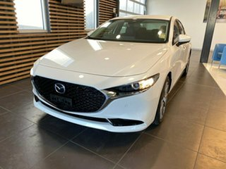 2019 Mazda 3 BP2S7A G20 SKYACTIV-Drive Touring Snowflake White Pearl 6 Speed Sports Automatic Sedan.