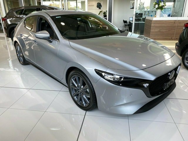 Demo Mazda 3 BP2HLA G25 SKYACTIV-Drive Evolve, 2019 Mazda 3 BP2HLA G25 SKYACTIV-Drive Evolve Sonic Silver 6 Speed Sports Automatic Hatchback