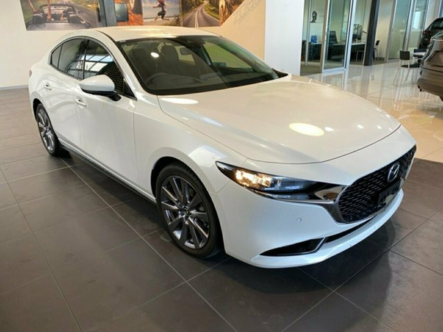 Demo Mazda 3 BP2S7A G20 SKYACTIV-Drive Touring, 2019 Mazda 3 BP2S7A G20 SKYACTIV-Drive Touring Snowflake White Pearl 6 Speed Sports Automatic Sedan