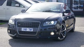 2010 Audi A5 8T Black 7 Speed Sports Automatic Dual Clutch Hatchback.