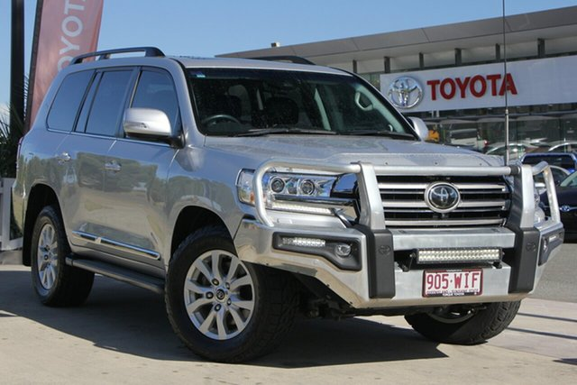 Used Toyota Landcruiser VDJ200R Sahara, 2016 Toyota Landcruiser VDJ200R Sahara Silver Pearl 6 Speed Sports Automatic Wagon