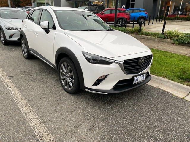 Demo Mazda CX-3 DK4W7A Akari SKYACTIV-Drive i-ACTIV AWD LE, 2019 Mazda CX-3 CX-3 Akari SKYACTIV-Drive i-ACTIV AWD LE Snowflake White Pearl 6 Speed