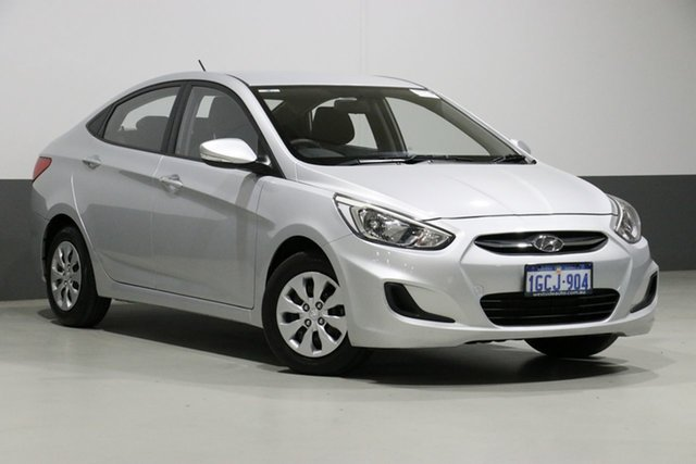 Used Hyundai Accent RB3 MY16 Active, 2016 Hyundai Accent RB3 MY16 Active Silver 6 Speed CVT Auto Sequential Sedan
