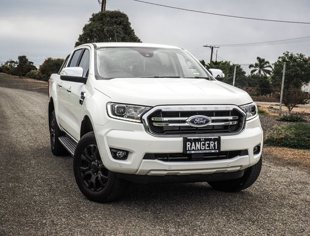 Demo Ford Ranger PX MkIII 2020.25MY XLT Pick-up Double Cab, 2020 Ford Ranger PX MkIII 2020.25MY XLT Pick-up Double Cab Arctic White 10 Speed Sports Automatic