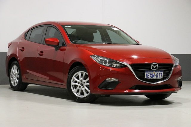 Demo Mazda 3 BM Neo, 2015 Mazda 3 BM Neo Red 6 Speed Manual Sedan