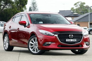 2018 Mazda 3 BN MY18 SP25 Red 6 Speed Automatic Sedan.