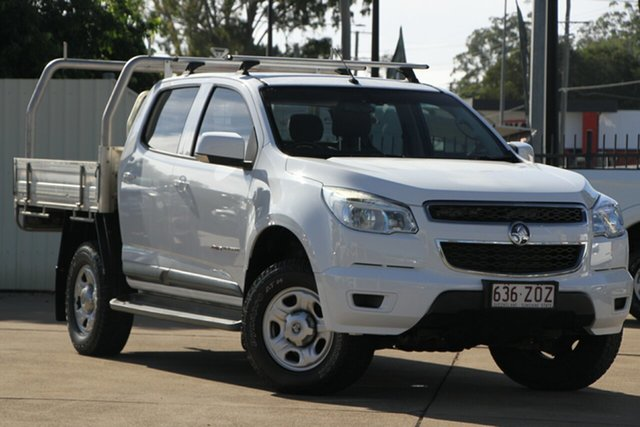 Used Holden Colorado RG MY15 LS Crew Cab, 2014 Holden Colorado RG MY15 LS Crew Cab White 6 Speed Manual Cab Chassis