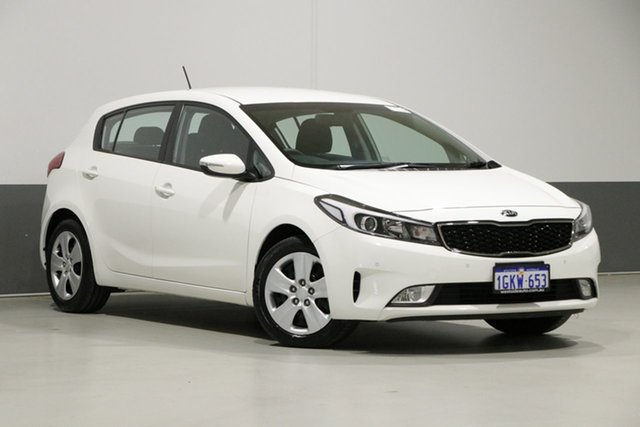 Used Kia Cerato YD MY18 S (AV), 2017 Kia Cerato YD MY18 S (AV) White 6 Speed Auto Seq Sportshift Hatchback