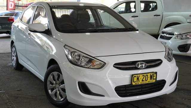 Used Hyundai Accent RB4 MY17 Active, 2016 Hyundai Accent RB4 MY17 Active White 6 Speed Constant Variable Hatchback