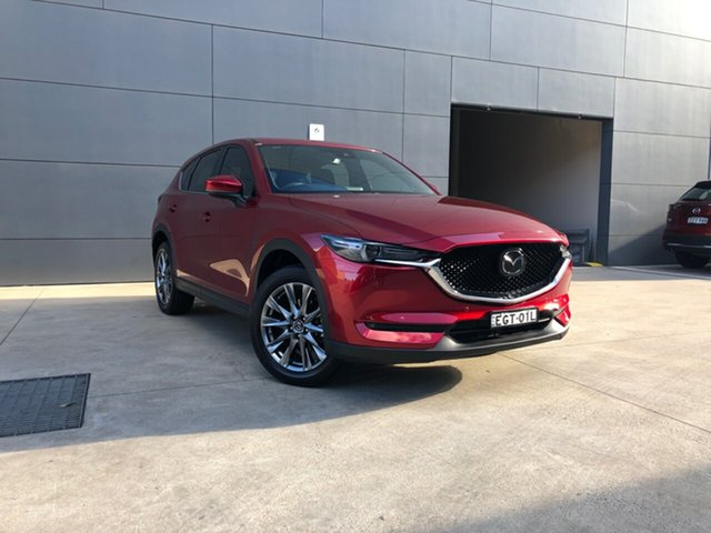 Demo Mazda CX-5 KF4WLA Akera SKYACTIV-Drive i-ACTIV AWD, 2019 Mazda CX-5 KF4WLA Akera SKYACTIV-Drive i-ACTIV AWD Soul Red Crystal 6 Speed Sports Automatic