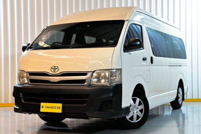 Used Toyota HiAce KDH223R MY11 Commuter High Roof Super LWB, 2011 Toyota HiAce KDH223R MY11 Commuter High Roof Super LWB White 4 Speed Automatic Bus