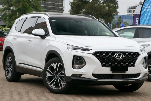 New Hyundai Santa Fe TM.2 MY20 Highlander, 2020 Hyundai Santa Fe TM.2 MY20 Highlander White Cream 8 Speed Sports Automatic Wagon