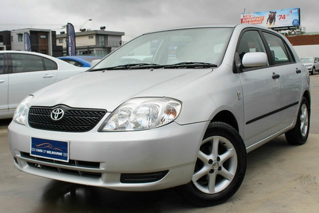 Used Toyota Corolla ZZE122R 5Y Ascent, 2004 Toyota Corolla ZZE122R 5Y Ascent Silver 4 Speed Automatic Hatchback