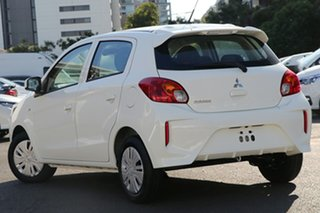 2021 Mitsubishi Mirage LB MY21 ES White 5 Speed Manual Hatchback.