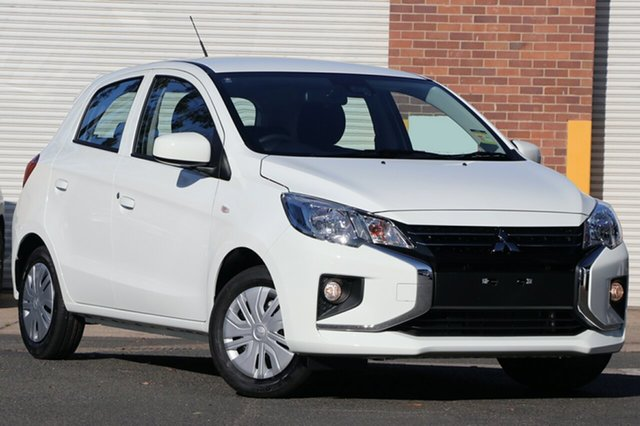 New Mitsubishi Mirage LB MY21 ES Parramatta, 2020 Mitsubishi Mirage LB MY21 ES White 1 Speed Constant Variable Hatchback