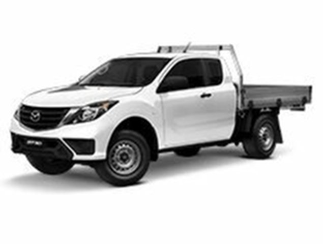 Demo Mazda BT-50 UR0YG1 XT Freestyle 4x2 Hi-Rider, 2019 Mazda BT-50 UR0YG1 XT Freestyle 4x2 Hi-Rider Cool White 6 Speed Sports Automatic Cab Chassis