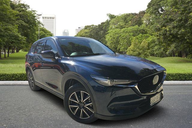 Used Mazda CX-5 KF4WLA Akera SKYACTIV-Drive i-ACTIV AWD, 2018 Mazda CX-5 KF4WLA Akera SKYACTIV-Drive i-ACTIV AWD Blue 6 Speed Sports Automatic Wagon