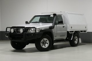 2014 Nissan Patrol MY14 ST (4x4) Silver 5 Speed Manual Coil Cab Chassis