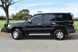 2004 Toyota Landcruiser HDJ100R GXL Black 5 Speed Automatic Wagon.