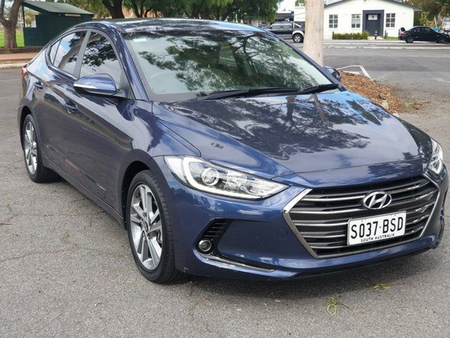 Used Hyundai Elantra AD MY18 Elite, 2017 Hyundai Elantra AD MY18 Elite Blue 6 Speed Sports Automatic Sedan