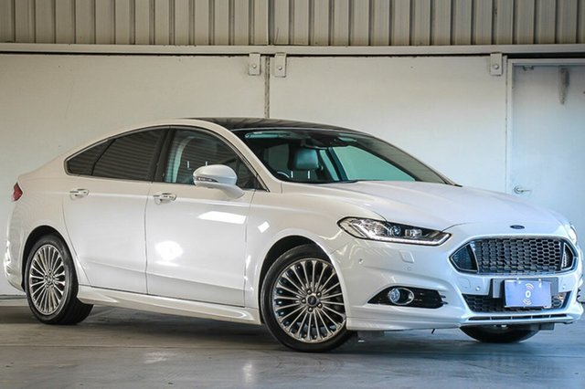 Used Ford Mondeo MD Titanium PwrShift, 2015 Ford Mondeo MD Titanium PwrShift White 6 Speed Sports Automatic Dual Clutch Hatchback