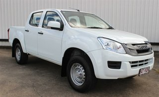 2015 Isuzu D-MAX MY15 SX Crew Cab 4x2 High Ride White 5 Speed Sports Automatic Cab Chassis.