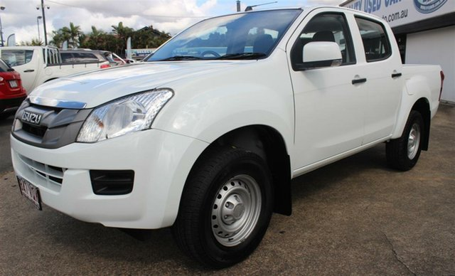 Used Isuzu D-MAX MY15 SX Crew Cab 4x2 High Ride, 2015 Isuzu D-MAX MY15 SX Crew Cab 4x2 High Ride White 5 Speed Sports Automatic Cab Chassis