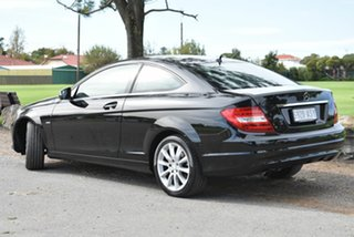 2012 Mercedes-Benz C-Class C204 C180 BlueEFFICIENCY 7G-Tronic + Black 7 Speed Sports Automatic Coupe.