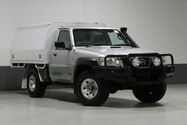 Used Nissan Patrol MY14 ST (4x4), 2014 Nissan Patrol MY14 ST (4x4) Silver 5 Speed Manual Coil Cab Chassis