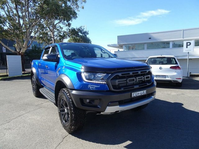 Used Ford Ranger  Raptor Pick-up Double Cab, 2018 Ford Ranger PX MKIII 2019.0 Raptor Pick-up Double Cab Blue Lightning 10 Speed Sports Automatic