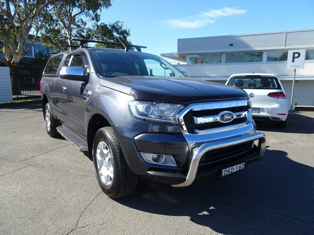 Used Ford Ranger PX MkII XLT Super Cab 4x2 Hi-Rider, 2016 Ford Ranger PX MkII XLT Super Cab 4x2 Hi-Rider Metroploitan Grey 6 Speed Sports Automatic